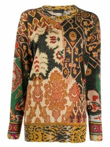 Etro mixed print shimmer jumper - Black