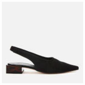 Ganni Women's Sling Back Block Kitten Heels - Black