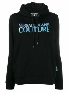 Versace Jeans Couture printed logo hoodie - Black