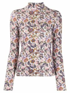See By Chloé floral print turtleneck top - White