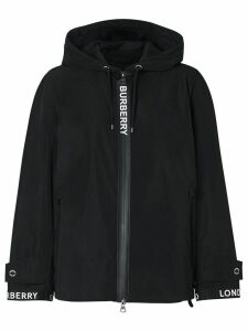 Burberry hooded long-sleeve jacket - Black