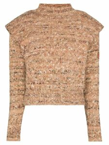 Etro exaggerated mélange jumper - NEUTRALS
