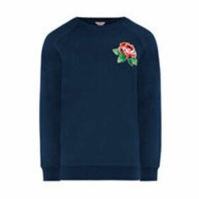 Oxford Rose Embroidered Sweatshirt