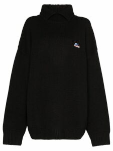 Ader Error high neck oversized sweatshirt - Black