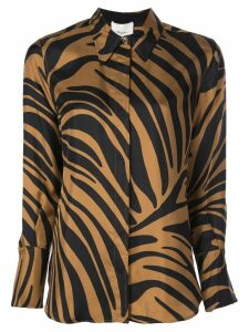 3.1 Phillip Lim Zebra Print Blouse - Brown
