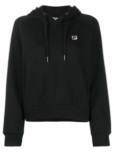 Fila embroidered logo hoodie - Black