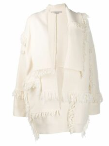 Stella McCartney fringed layered cardigan - White