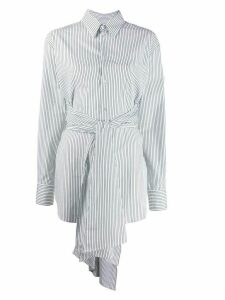 Mm6 Maison Margiela belted striped shirt - White