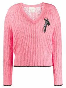 Marco De Vincenzo V-neck jumper - Pink