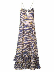 Suboo Into The Wilds midi dress - Blue