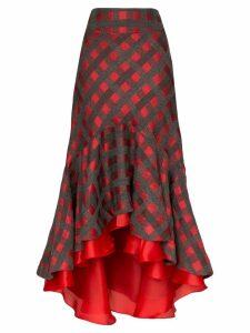 Silvia Tcherassi Dallas check fish tail skirt - Multicolour