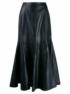 Gabriela Hearst lined leather midi skirt - Blue