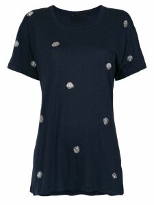 Andrea Bogosian embroidered T-shirt - Blue
