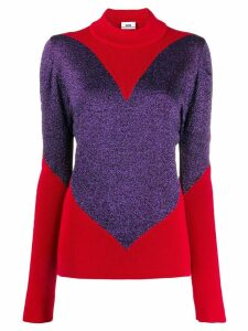 Gcds ribbed detail jumper - Red
