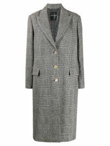 Ermanno Scervino check single-breasted coat - Black
