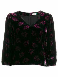 Rixo Millie velvet blouse - PINK