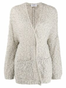 Snobby Sheep sequinned cardigan - NEUTRALS