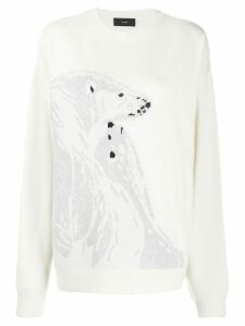Alanui Polar Bear jumper - White