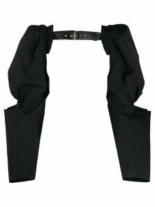 Comme Des Garçons open harness-style top - Black