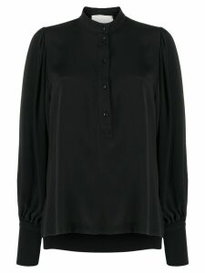 8pm long-sleeve flared blouse - Black