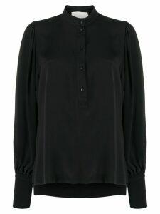 8pm long-sleeve flared blouse - Black