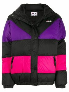 Fila Reilly colour-block puffer jacket - Black