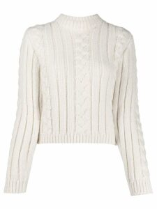 GANNI cable knit jumper - White