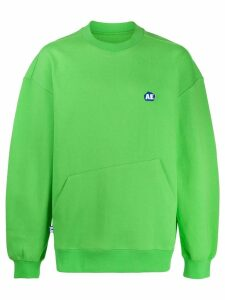 Ader Error AE logo patch sweatshirt - Green