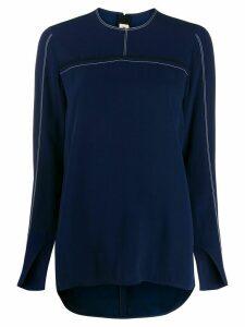 Marni contrast stitching blouse - Blue