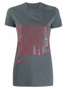 Rick Owens DRKSHDW poem print T-shirt - Grey