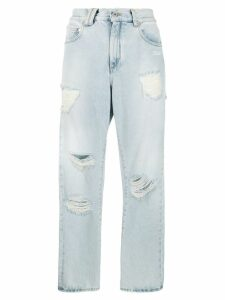 Off-White ripped straight leg jeans - Blue