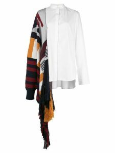 Monse deconstructed draped detail shirt - White