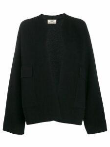 Sminfinity open front knitted cardigan - Black
