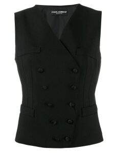 Dolce & Gabbana double-breasted waist coat - Black