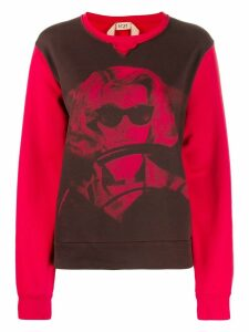 Nº21 woman print sweatshirt - Red