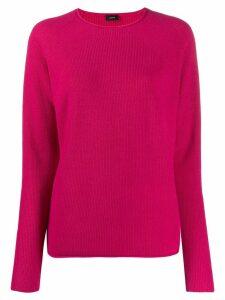 Joseph rib knit cashmere jumper - PINK