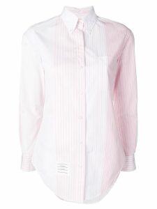 Thom Browne Fun-Mix Stripe Poplin Shirt - White