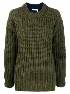See by Chloé chunk knit jumper - Green
