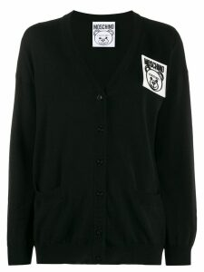 Moschino Teddy Bear patch cardigan - 0555 BLACK