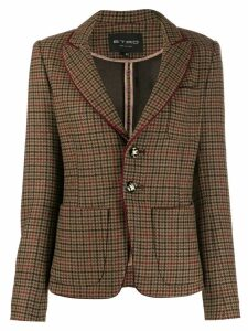 Etro check pattern blazer - Brown