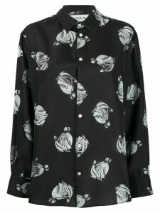LANVIN graphic print shirt - Black