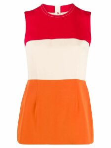 Marni colour block sleeveless blouse - NEUTRALS