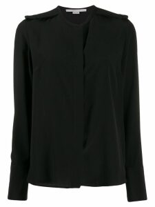 Stella McCartney epaulette long-sleeve blouse - Black