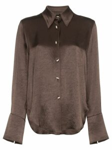 Nanushka Mandine collared shirt - Brown