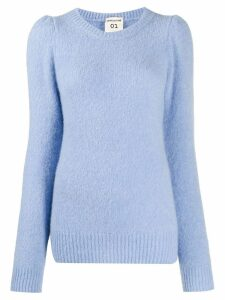 Semicouture puff-shoulder jumper - Blue