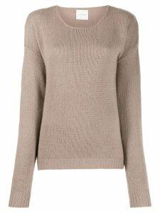 Fine Edge boyfriend cashmere crew neck jumper - NEUTRALS