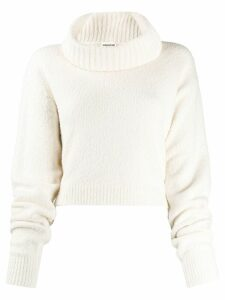Semicouture wide roll-neck sweater - Neutrals