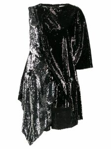 Marques'Almeida draped sequin blouse - Black