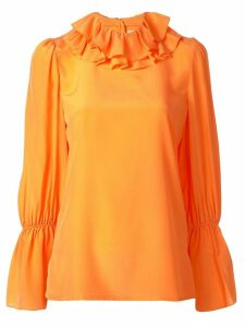 Tory Burch ruffle blouse - ORANGE
