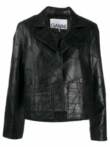 GANNI patchwork jacket - Black